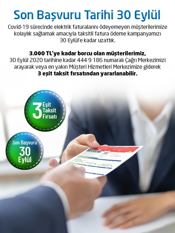 Fatura Taksitlendirme Eylül 2020